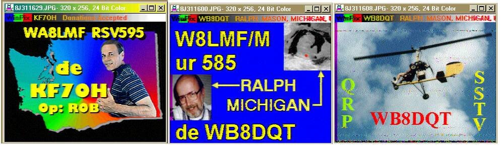 Sample SSTV Pictures As Received Over-the-Air